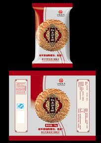 红豆沙月饼包装