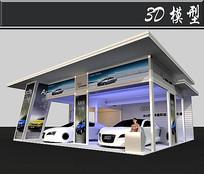 简易奥迪展厅3D模型