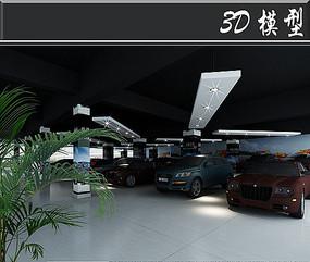 简约汽车4S店3D模型