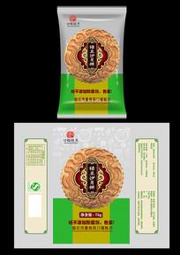 绿豆沙月饼包装设计