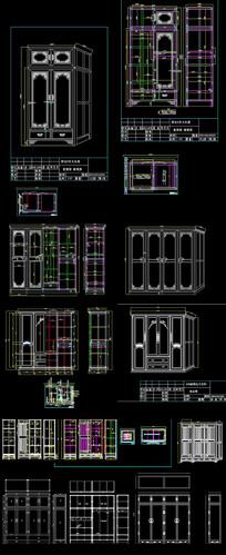 欧式衣柜CAD图集 dwg