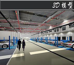 汽车生产工厂3D模型