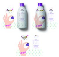 清新蓝莓果汁包装 AI