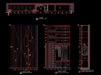 鞋柜CAD三视图