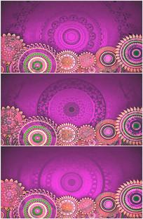 新疆图腾花纹旋转唯美背景视频