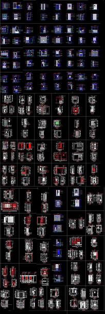 玄关柜鞋柜CAD立面图库