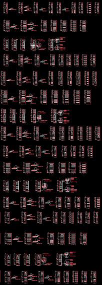 衣柜标准模块CAD图 dwg