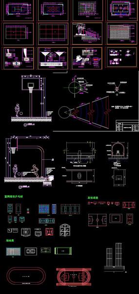 运动场建筑设计图纸 dwg