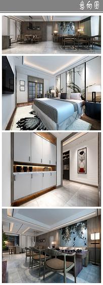 白色简洁住宅室内意向
