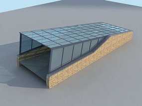 车库入口MAX模型