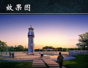 城市公园风景源文件JPG
