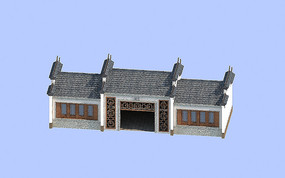 公园厕所建筑模型