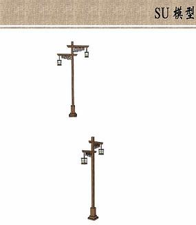 汉代特色灯具模型
