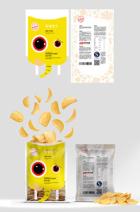 卡通大象小食品包装设计