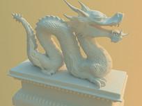 龙石雕小品模型