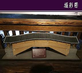 木质结构的廊桥模型
