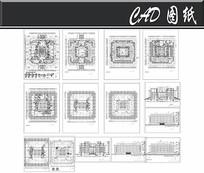 七层师范学院图书馆建筑设计图 dwg