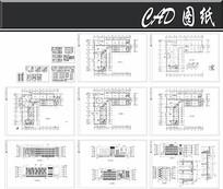 四层V型图书馆建筑设计图