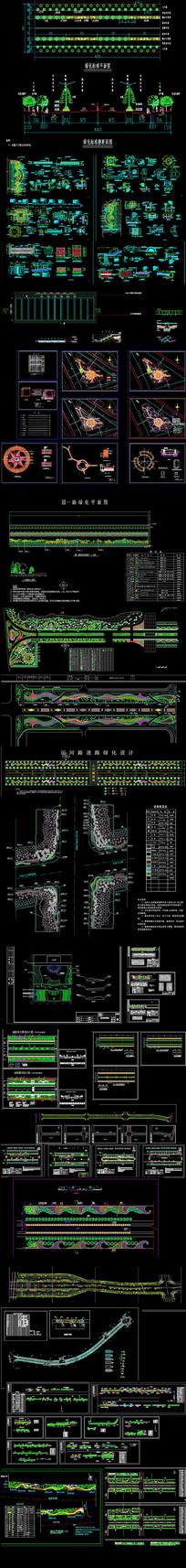 小区道路CAD平面图