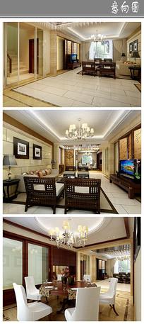新中式典雅室内设计意向