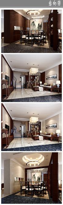中式豪华室内设计意向 JPG