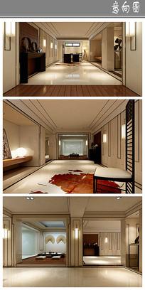 住房中式风格室内设计意向 JPG