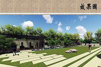 别墅庭院草坪效果图