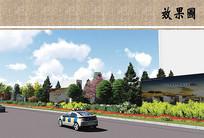 道路景观绿化效果图 JPG