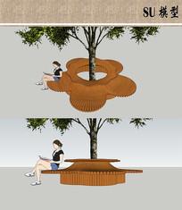花朵形状树池