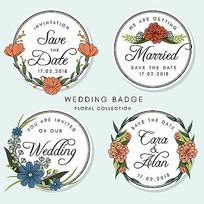 婚礼策划标签图案素材