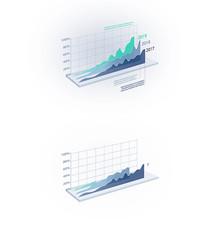 简洁3D图形数据表格AE模版