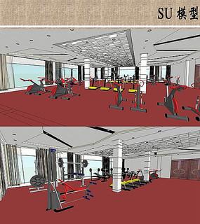 健身房室内模型