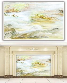 梦幻山水天然大理石纹背景墙