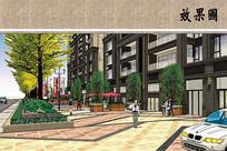 商业步行街效果图 JPG