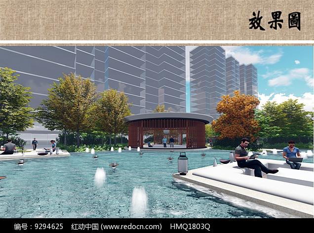 水景喷泉效果图图片