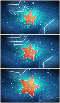 五角星背景视频素材