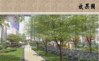 小区绿化景观效果图