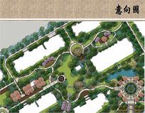 小区中央公共广场平面图