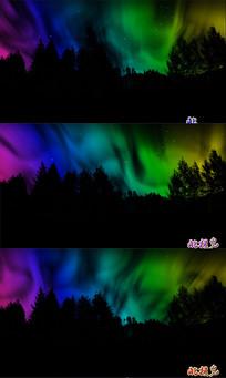 绚丽 北极光视频素材