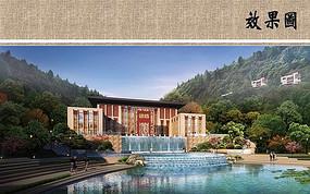 中心水景喷泉效果图 JPG