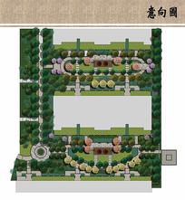 住宅区花园景观平面图