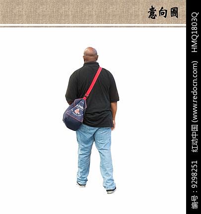 背包的黑人ps素材