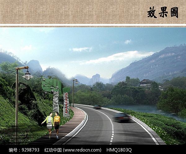 茶园景观设计效果图图片