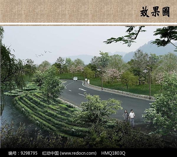 茶园景观效果图图片