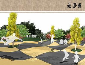 儿童园景观效果图