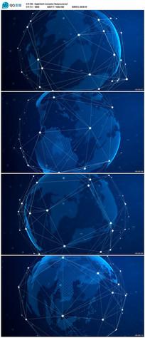 高科技数字地球世界地图背景