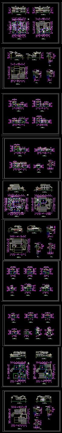 古建别墅建筑CAD图