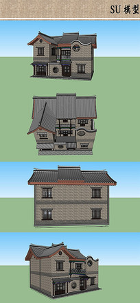 古街特色建筑模型