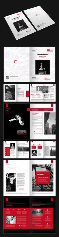 红色时尚创意画册