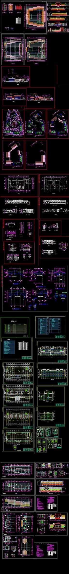 徽派别墅建筑CAD图纸